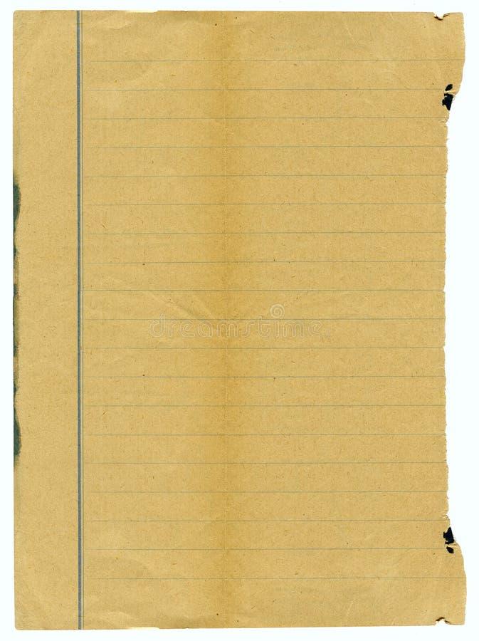 Viejo grunge, papel manchado fotografía de archivo
