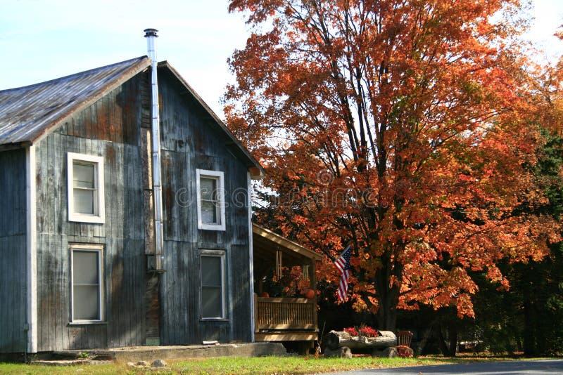Viejo hogar de Nueva Inglaterra foto de archivo