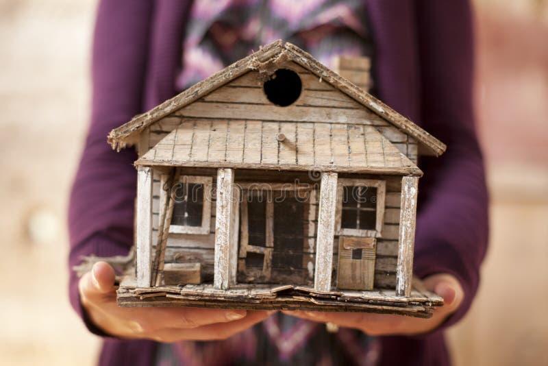 Viejo hogar miniatura fotografía de archivo libre de regalías