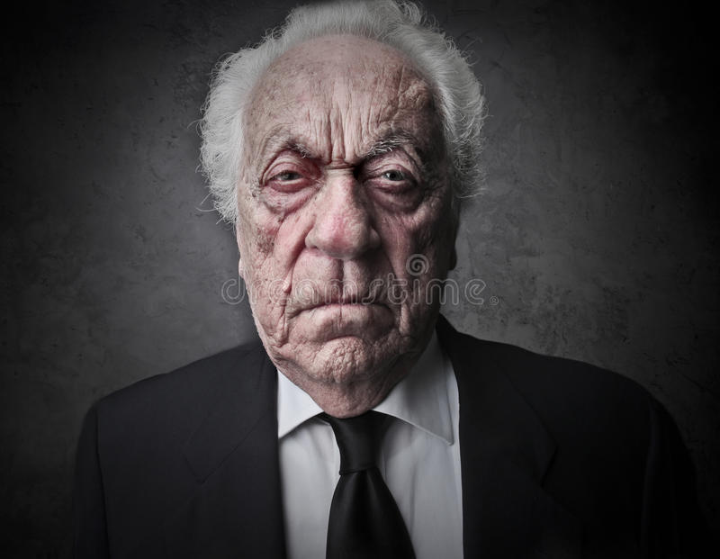 Viejo hombre fotografía de archivo libre de regalías