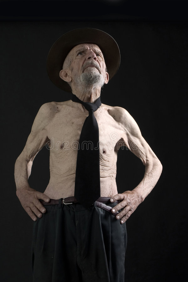 Viejo hombre con el sombrero fotos de archivo
