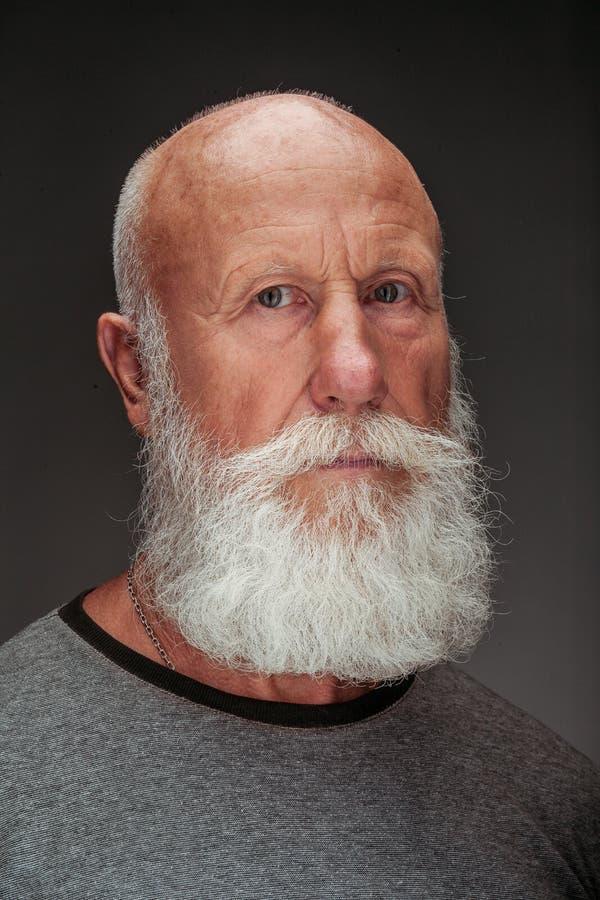 Viejo hombre con una barba blanca larga imagen de archivo libre de regalías