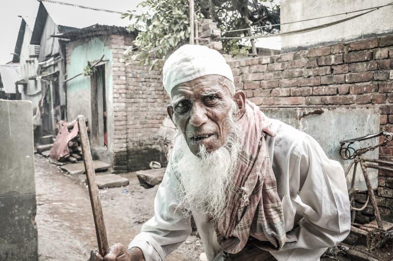 Viejo hombre en Bangladesh imágenes de archivo libres de regalías
