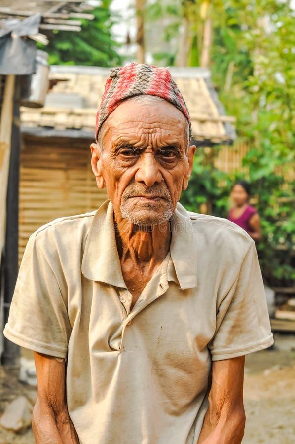 Viejo hombre en Nepal foto de archivo libre de regalías