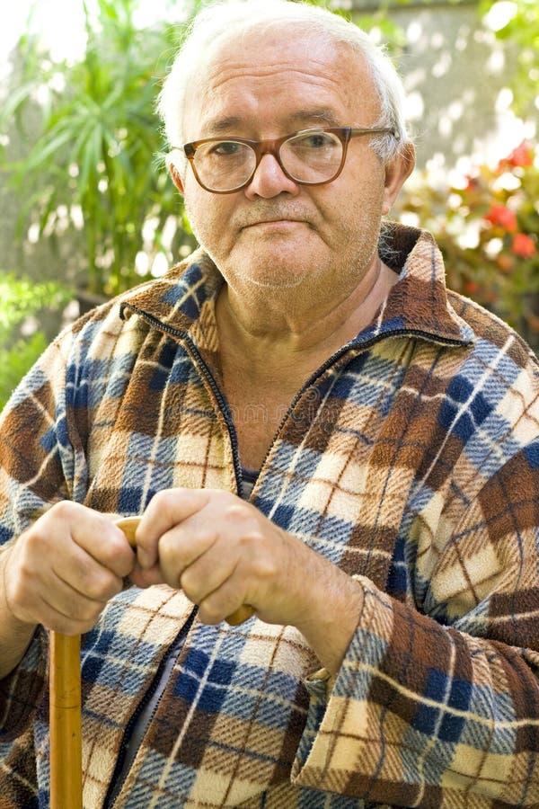 Viejo hombre Graying imagen de archivo