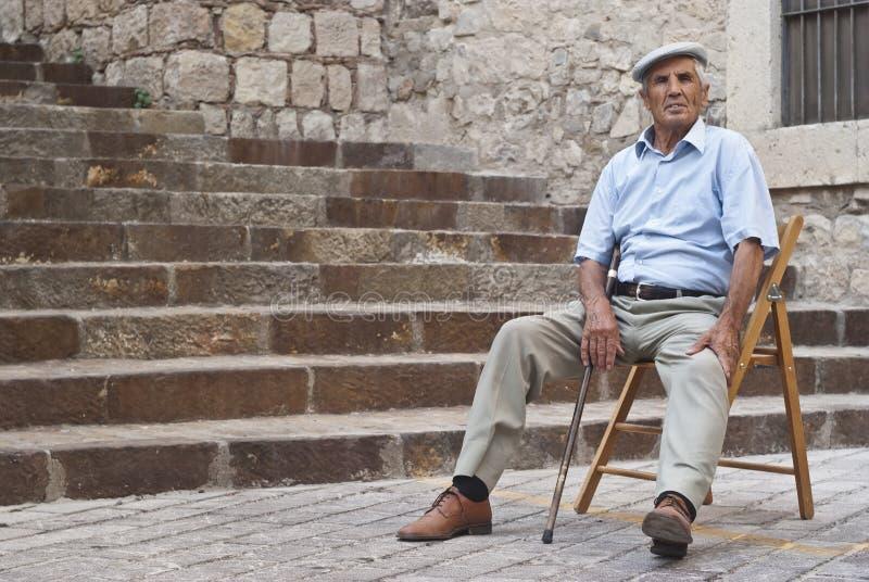 Viejo hombre siciliano imagen de archivo libre de regalías