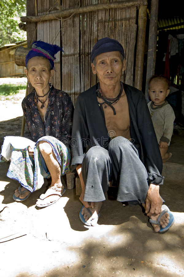 Viejo hombre y mujer, Hmong, Laos fotos de archivo libres de regalías