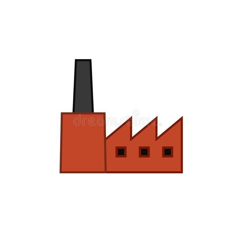 Viejo icono del edificio de la fábrica libre illustration