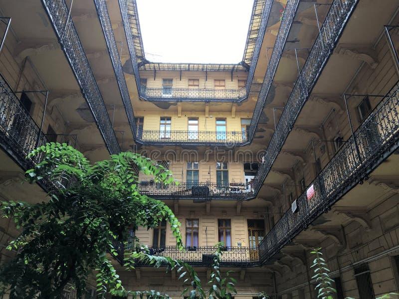 Viejo interior buiding, Budapest foto de archivo libre de regalías