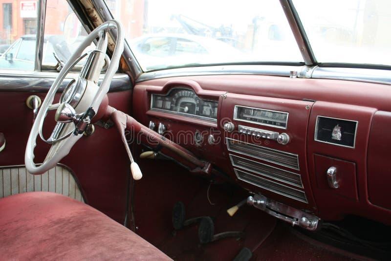 Viejo interior del coche fotografía de archivo libre de regalías