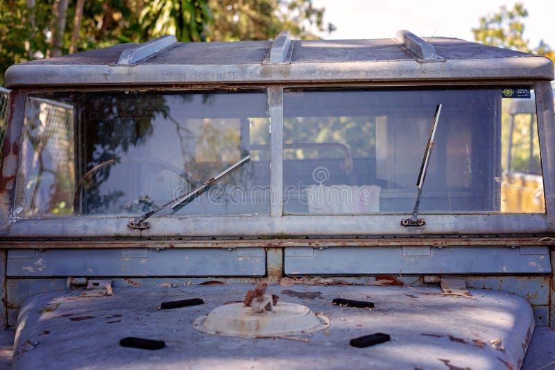 Viejo interior del Grunge del coche del vintage imágenes de archivo libres de regalías