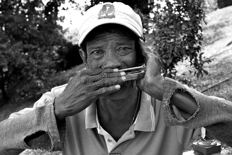Viejo músico fotos de archivo libres de regalías