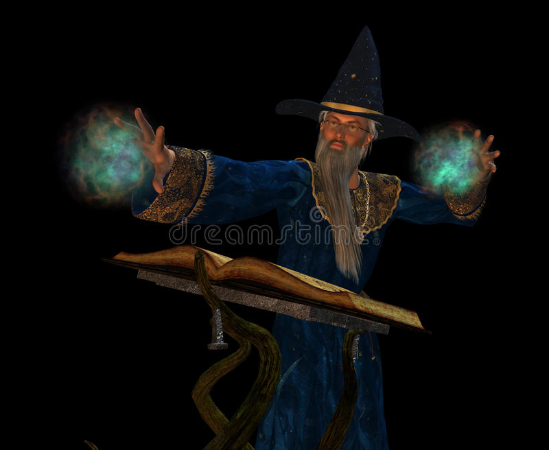 Viejo mago libre illustration