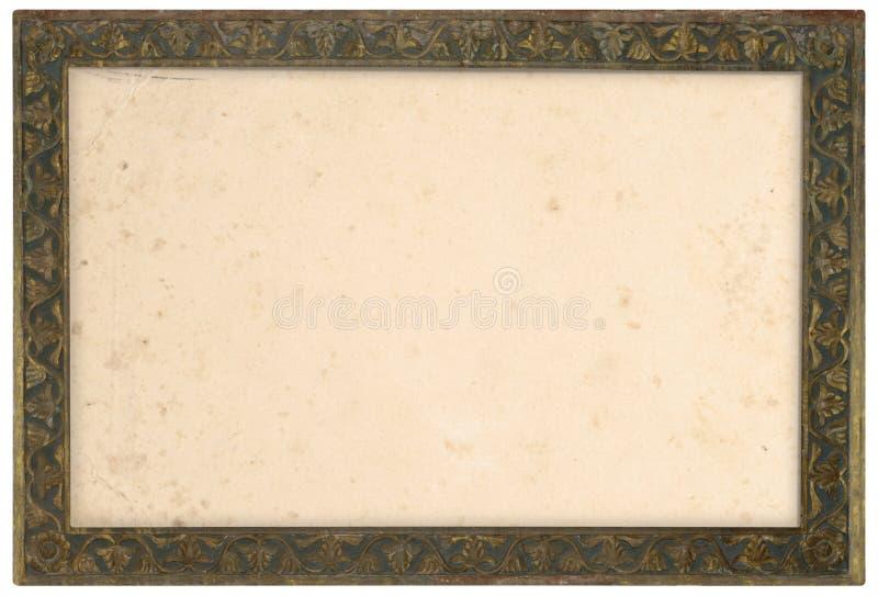 Viejo marco de bronce imágenes de archivo libres de regalías