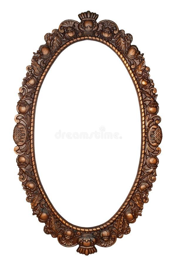 Viejo marco de bronce oval imagen de archivo. Imagen de cuadro ...