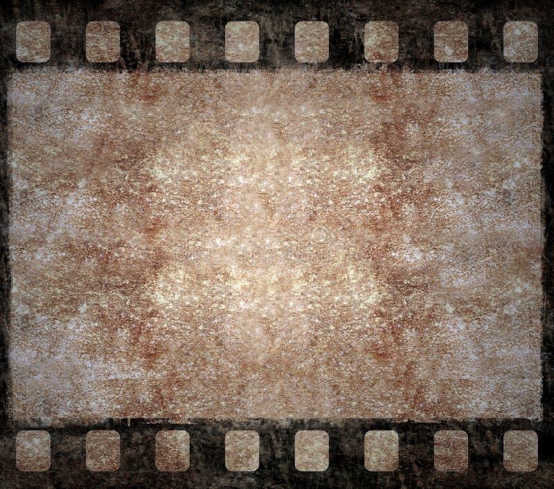 Viejo marco de la negativa de película - fondo de Grunge ilustración del vector