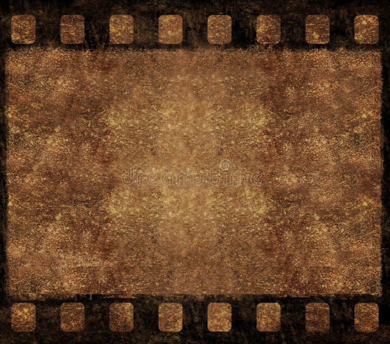 Viejo marco de la negativa de película - fondo de Grunge stock de ilustración