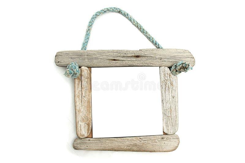 Viejo marco de madera fotos de archivo