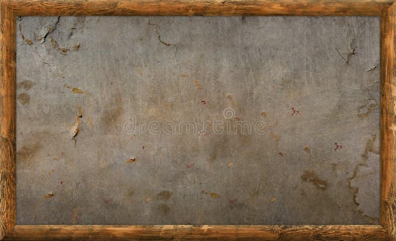 Viejo marco de madera stock de ilustración