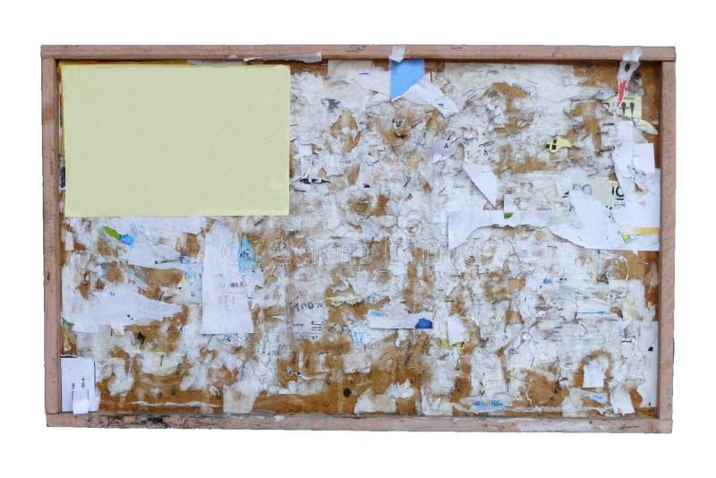 Viejo marco de madera de la cartelera fotos de archivo