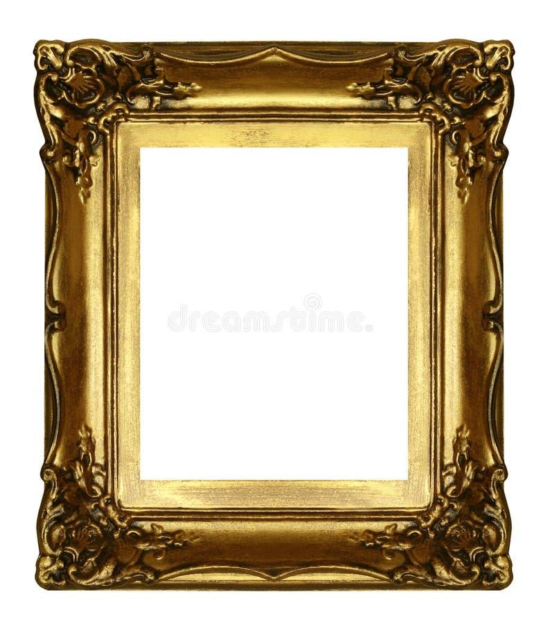 Viejo marco de oro sculpted imagen de archivo