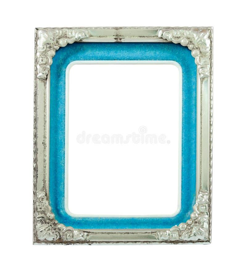 Viejo marco de plata del metal fotos de archivo libres de regalías