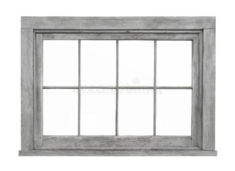 Viejo marco de ventana de madera aislado fotografía de archivo libre de regalías
