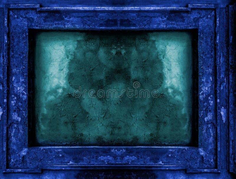 Viejo Marco Gótico Azul Profundo Stock de ilustración - Ilustración ...