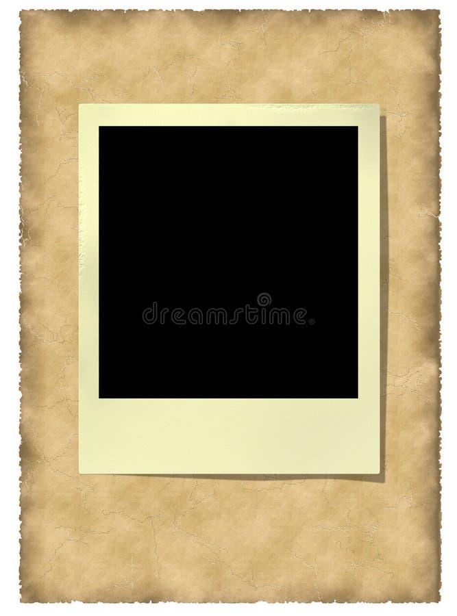Viejo marco polaroid en el vitage stock de ilustración