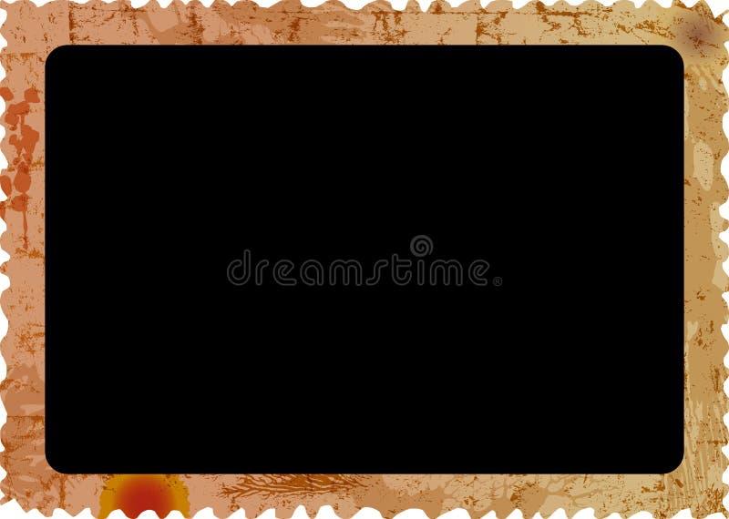 Viejo marco sucio de la foto, ejemplo vacío del vector de la fotografía, aislado en el fondo blanco, espacio libre de la imagen imagen de archivo