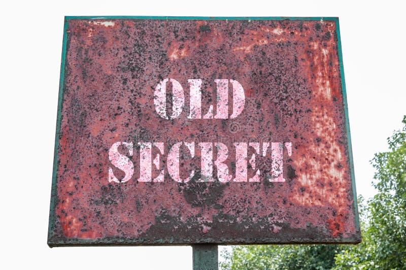 Viejo mensaje secreto imágenes de archivo libres de regalías