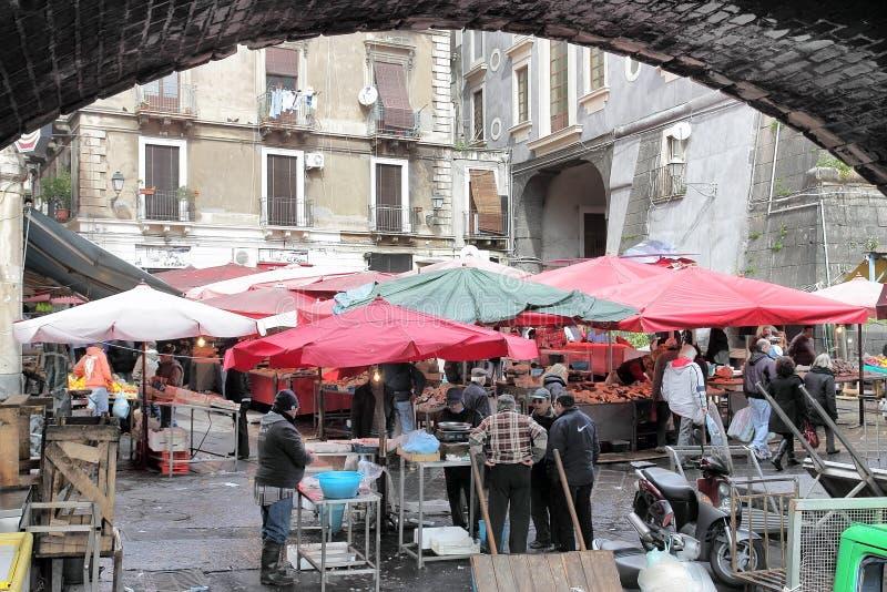 Viejo mercado de pescados de Catania fotografía de archivo libre de regalías