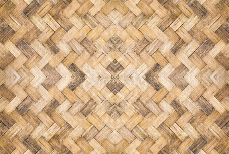 Viejo modelo de bambú tejido imagen de archivo libre de regalías