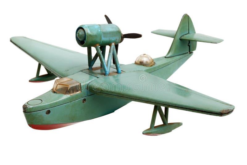 Viejo modelo de escala del avión hidráulico fotos de archivo libres de regalías
