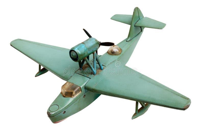 Viejo modelo de escala del avión hidráulico imagen de archivo