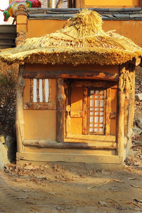 Viejo modelo de madera Korean de la casa fotografía de archivo
