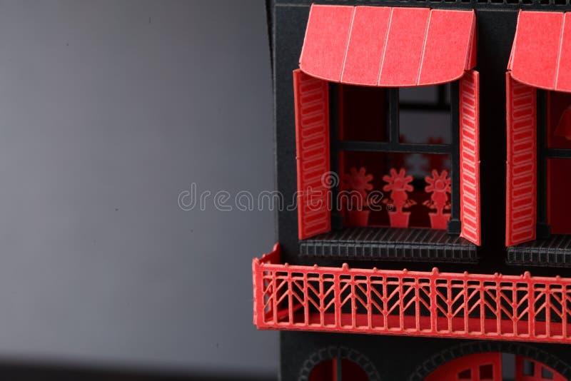 Viejo modelo de papel de la casa imágenes de archivo libres de regalías