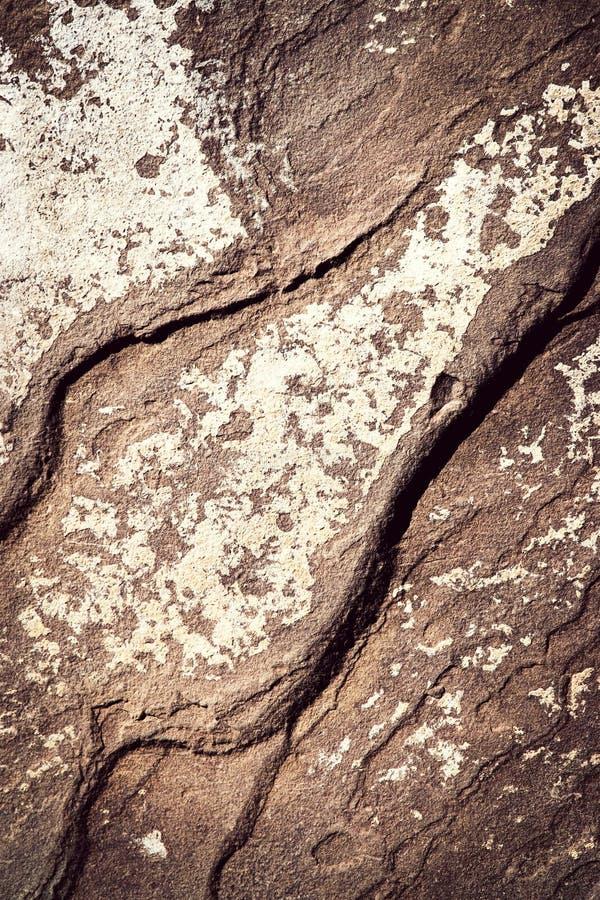 Viejo modelo de piedra con las ondulaciones imágenes de archivo libres de regalías