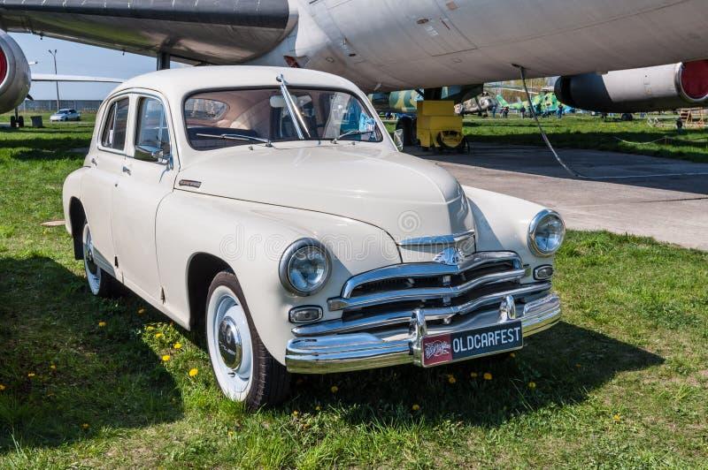 Viejo modelo 1955 del vintage de Pobeda M-20 del soviet fotos de archivo libres de regalías