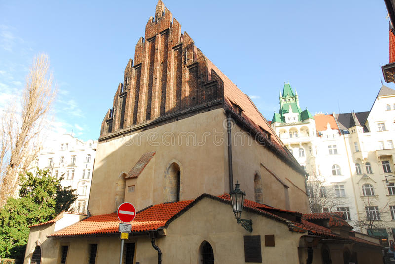 Viejo-nueva sinagoga fotos de archivo