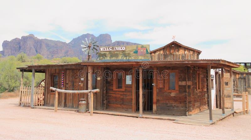 Viejo oeste: Wells Fargo Station foto de archivo libre de regalías