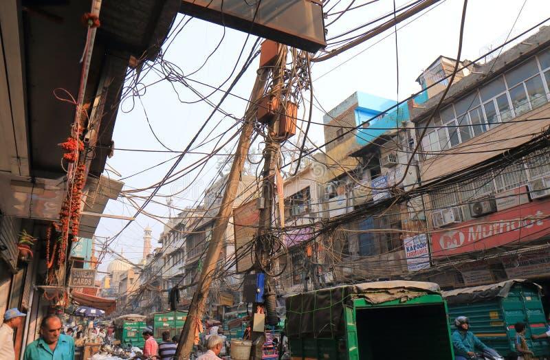 Viejo paisaje urbano la India de Delhi imagen de archivo
