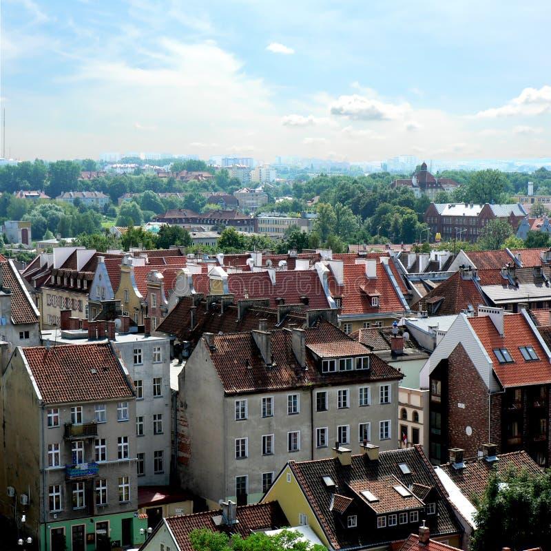Viejo panorama de la ciudad imagen de archivo libre de regalías