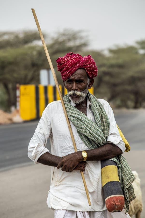 Viejo pastor de Rajasthani imagen de archivo libre de regalías