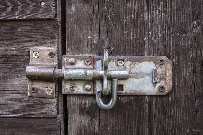 Viejo perno de puerta imágenes de archivo libres de regalías