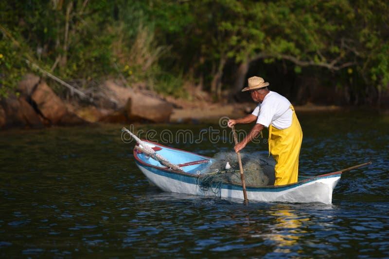 Viejo pescador imagen de archivo
