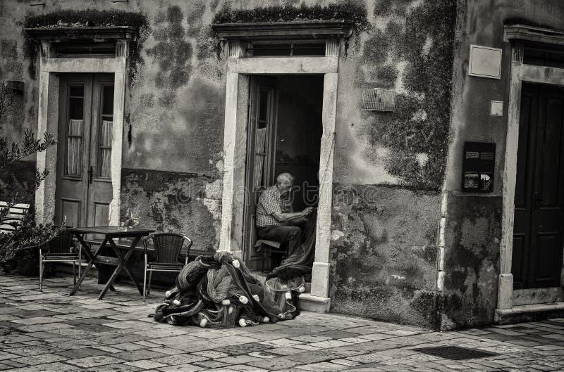 Viejo pescador fotografía de archivo
