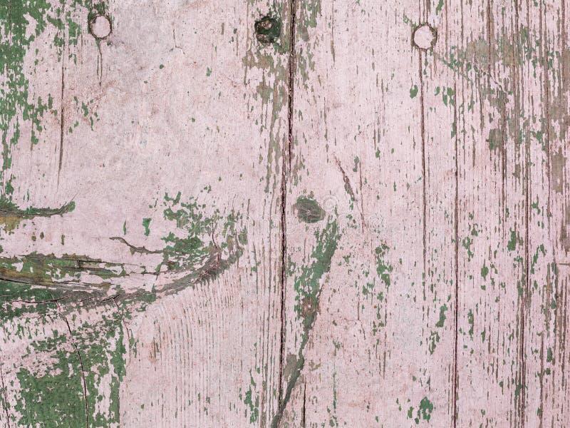 Viejo pintado con el tablón de madera rosado foto de archivo