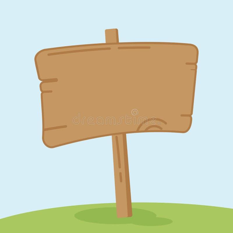 Viejo poste indicador de madera libre illustration