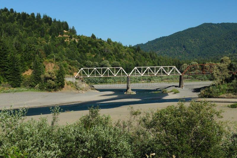 Viejo Puente De Acero En La Avenida De Los Gigantes fotografía de archivo